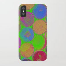 The Lie is a Round Truth. Green. iPhone X Slim Case