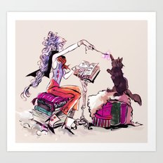 Witchy way Art Print