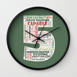 Life Path 5 (color background) Wall Clock