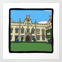 Cambridge struggles: Sidney Sussex Art Print