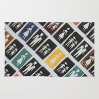 mad men Area & Throw Rugs featuring Mad men by WeLoveHumans