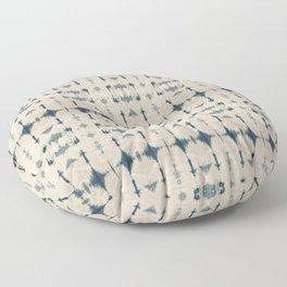Shibori Soundwaves Floor Pillow