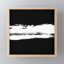 B&W Paint Framed Mini Art Print