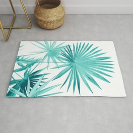 Fan Palm Leaves Jungle #3 #tropical #decor #art #society6 Rug