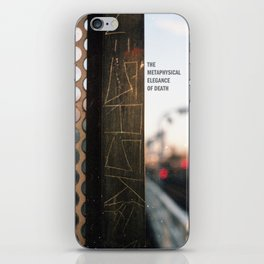 The Metaphysical Elegance of Death iPhone Skin