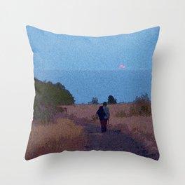 Moonrise Stroll Throw Pillow