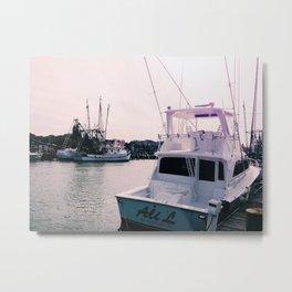 boats at shem creek Metal Print
