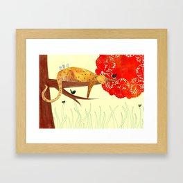 Sleeping Leopard Framed Art Print
