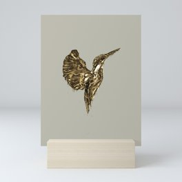 Golden Kingfisher Mini Art Print