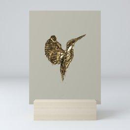 Golden Kingfisher Mini Art Print