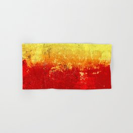 Vibrant Yellow Sunset Glow Textured Abstract Hand & Bath Towel
