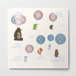button ballooning Metal Print