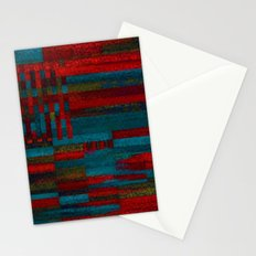 Dark reds in lines of chalk Stationery Cards