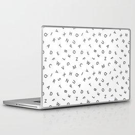 The Missing Letter Alphabet W&B Laptop & iPad Skin