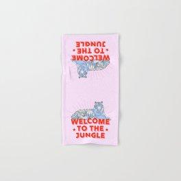 welcome to the jungle - retro tiger Hand & Bath Towel