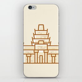 Cambodia - Angkor Wat Illustration iPhone Skin
