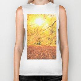 New York City Autumn Sun Biker Tank