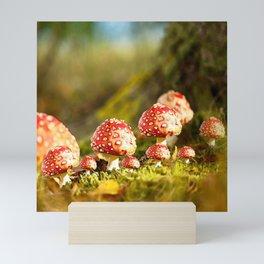 Beautiful but toxic - Fly agaric - Amanita - Autumn illustration #decor #society6 #buyart Mini Art Print