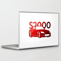 honda Laptop & iPad Skins featuring Honda S2000 - classic red - by Vehicle