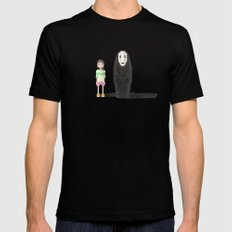 spirited away Mens Fitted Tee Black LARGE