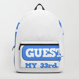 33rd Birthday Guestbook Please Register Backpack
