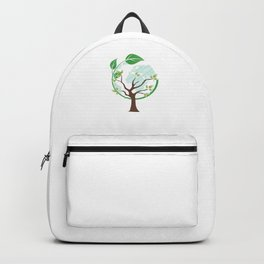 Earth Tree Globe Mother Nature Environment Backpack