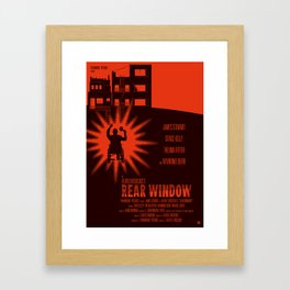 Alfred Hitchcock's Rear Window Framed Art Print