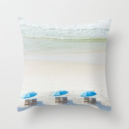 Mornings at the Beach Throw Pillow