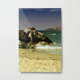 windy day in turgutreis bodrum Metal Print