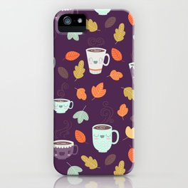 CUTE COFFEE (PURPLE) iPhone Case