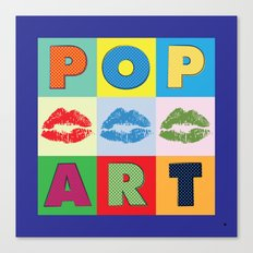 POP Art Lips Canvas Print
