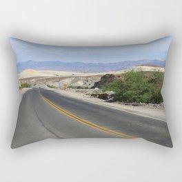 Long Desert Road Rectangular Pillow