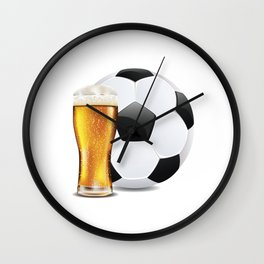 Beer and Soccer Ball Wall Clock