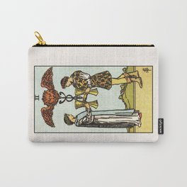 TWO OF CUPS / WHITE Carry-All Pouch