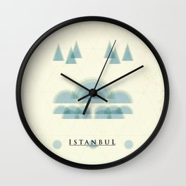 Istanbul Poster Wall Clock