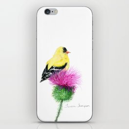 Little Goldfinch by Teresa Thompson iPhone Skin