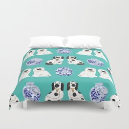 Staffordshire Dogs + Ginger Jars No. 2 Duvet Cover
