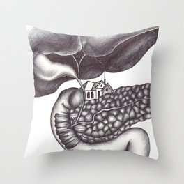 Ampulla of Vater and Sphincter of Oddi Interlude Throw Pillow