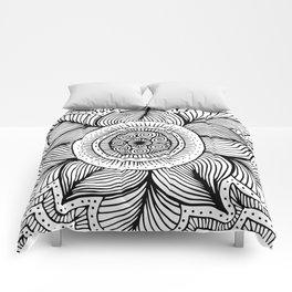 Doodle Flower Comforters