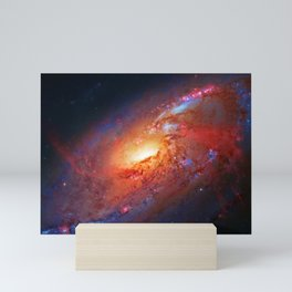 Spiral Galaxy in the Hunting Dogs constellation Mini Art Print