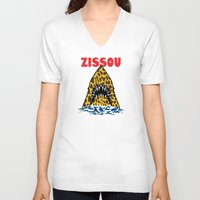zissou V-neck T-shirts featuring Zissou by Buby87