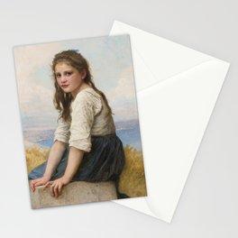 "William-Adolphe Bouguereau ""Au bord de la mer"" Stationery Cards"
