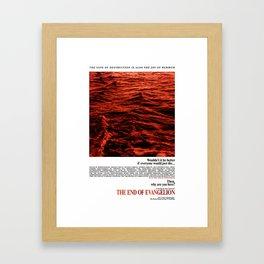 Movie Poster: The End of Evangelion v2 Framed Art Print