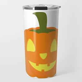 Classic light Halloween Pumpkin Travel Mug