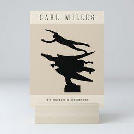 Modern poster -The Swedish sculptor Carl Milles -Man and Pegasus. Mini Art Print