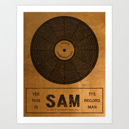 Sam the Record Man Vintage Art Print