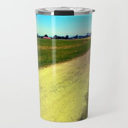 Lonely countryside gravel road Travel Mug