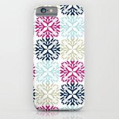 Floral Geometric - Navy & Pink iPhone 6s Slim Case