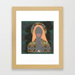 Lollipop Madonna Pop Print Framed Art Print