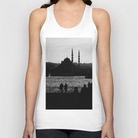 istanbul Tank Tops featuring Istanbul by habish
